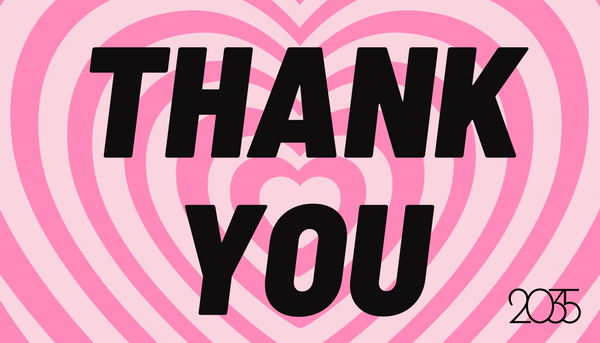 Retro Heart Thank You Gift Card