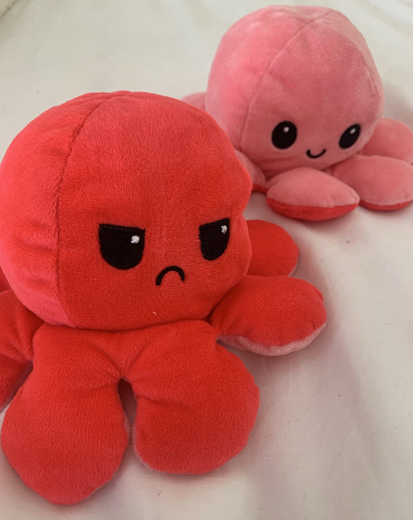 Reversible love octopus plushie