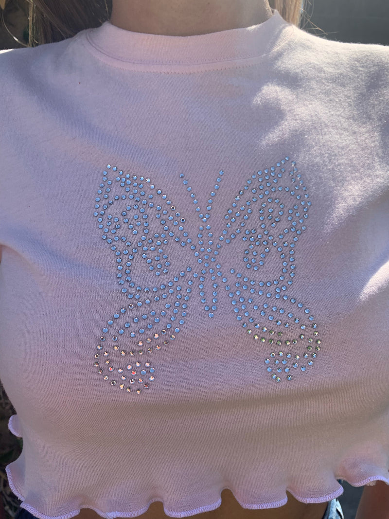 Bedazzle Butterfly Top
