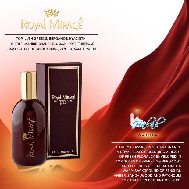 Royal Mirage EAU DE COLOGNE SPRAY 120ml