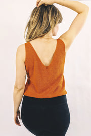 Athena Knitted Top - Happy Orange