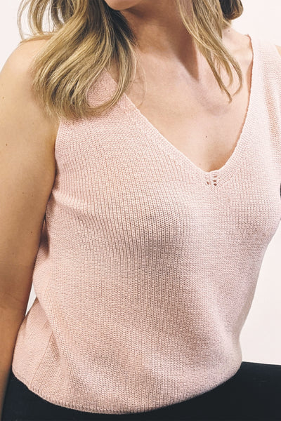 Athena Knitted Top - Delicate Pink