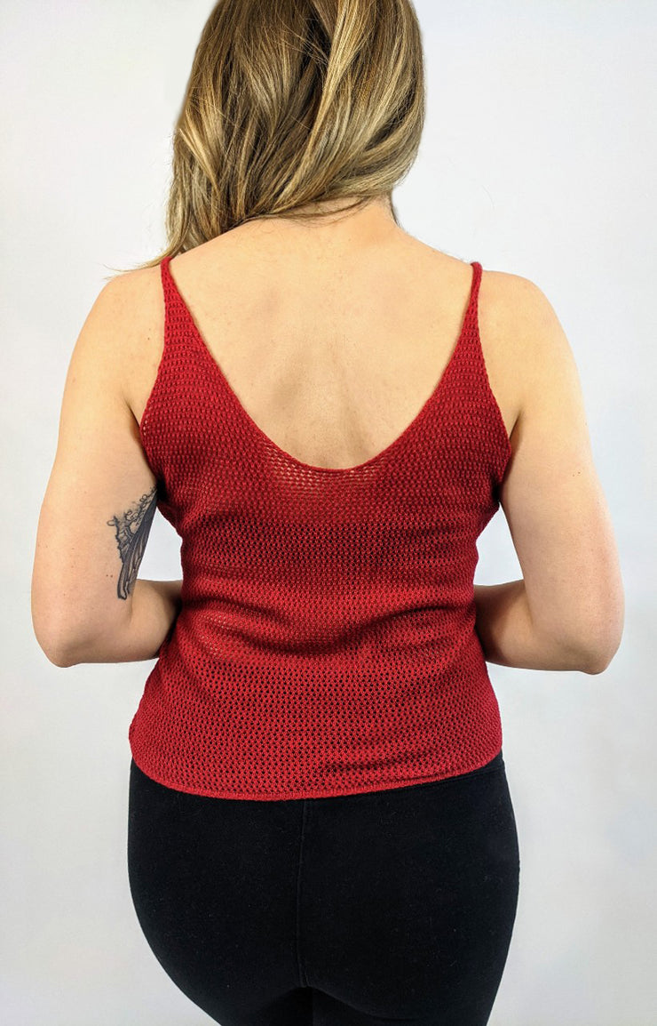 Wild and Free Janis Knitted Top - Passion Red