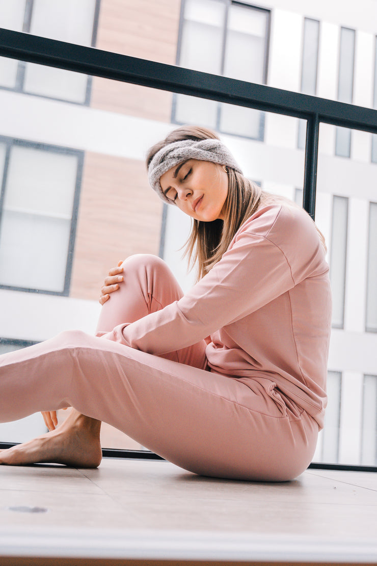 Cotton Clouds Joggers - Soft Rose