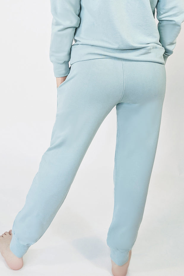 Cotton Clouds Joggers - Light Aquamarine