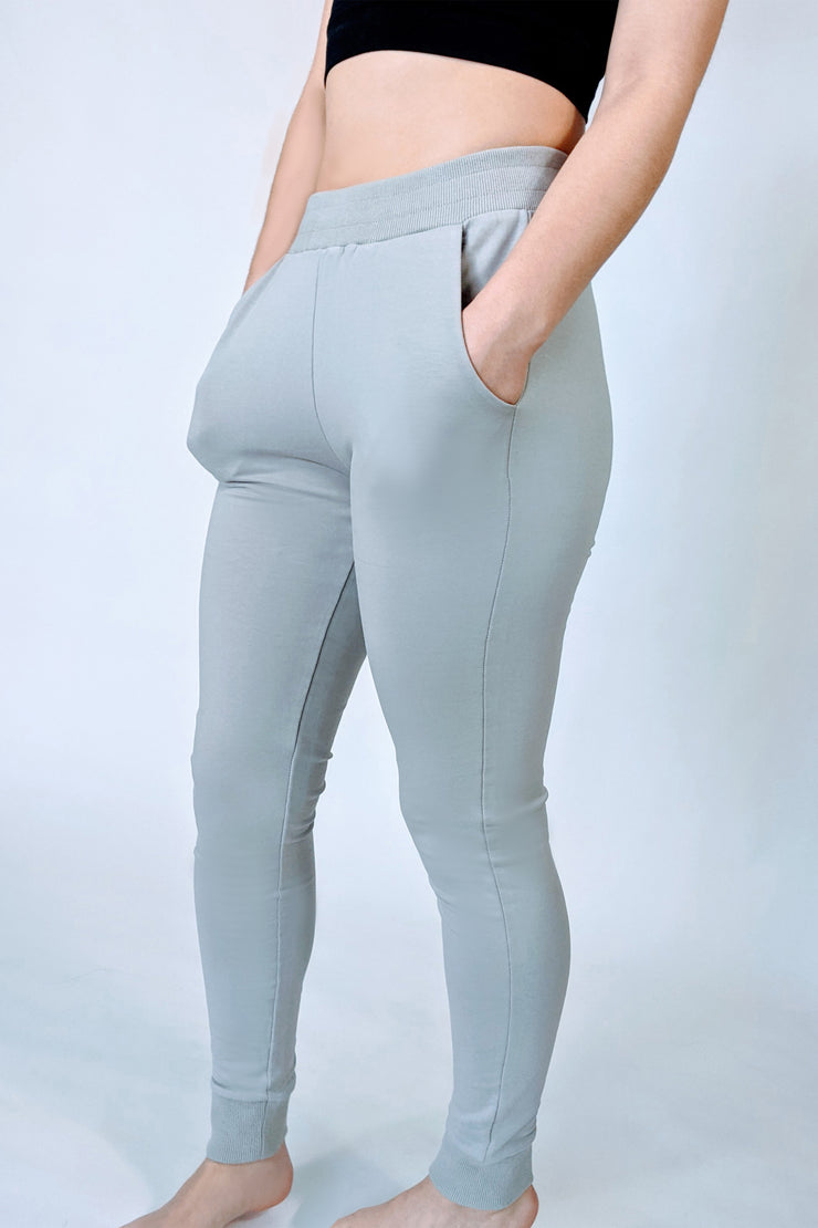 High Rise In The Clouds Joggers - Soft Grey