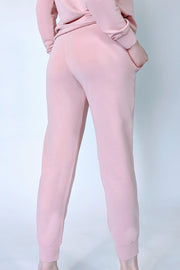 Cotton Clouds Joggers - Pale Rose