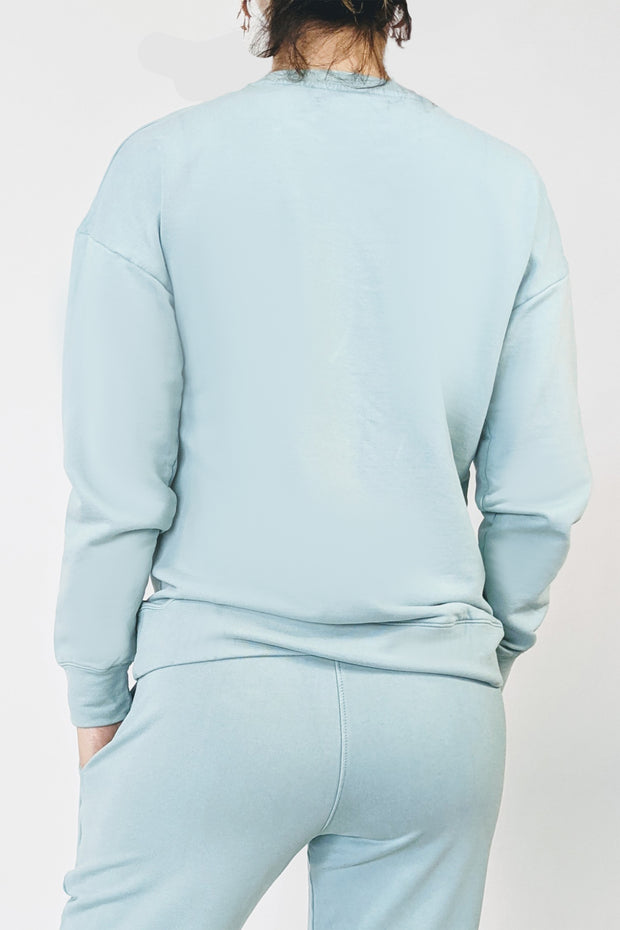 Cotton Clouds Sweatshirt - Light Aquamarine