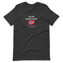 Load image into Gallery viewer, Unisex Norwegian go where the pepper grows, or get lost! T-Shirt
