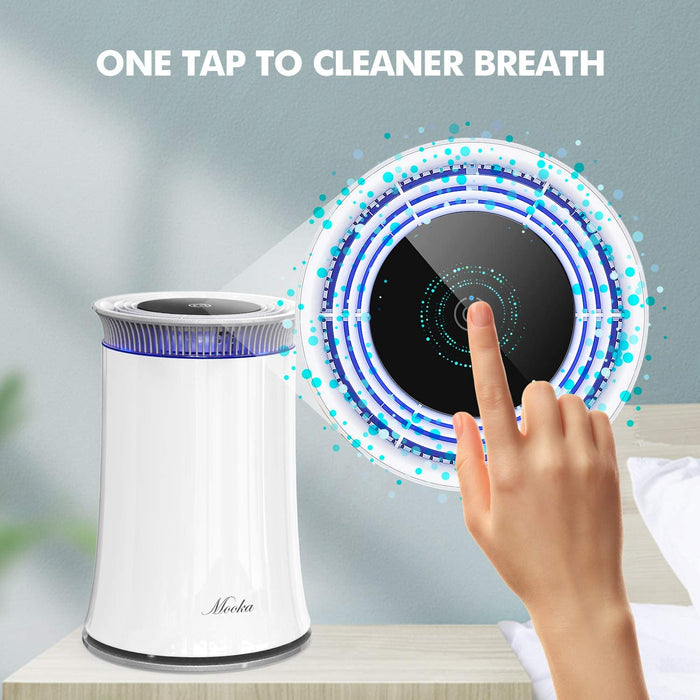 Mooka C10 Air Purifier, Highly Efficient True HEPA Air Cleaner Optimized for Room Up to 380 sqft