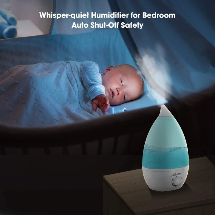 Mooka Humidifiers 2-in-1 Cool Mist Humidifier Diffuser for Baby Home Bedroom Office