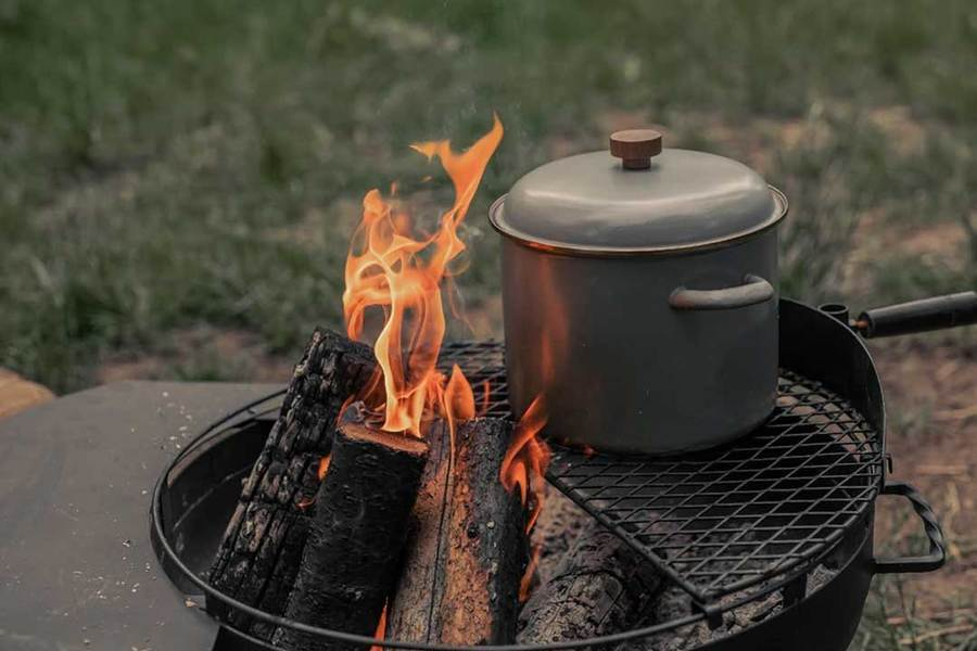 Barebones - Enamel Stock Pot Camping & Hiking (Cook & Eat) Barebones