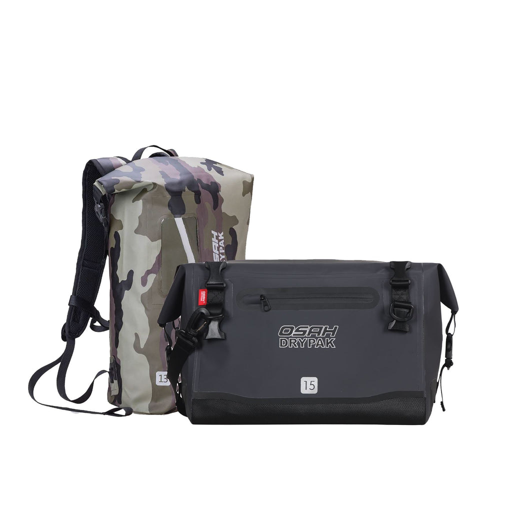 BIG CATCH COMBO - GREY MESSENGER BAG + ANY COLOUR TRAIL BACKPACK Camping & Hiking (Bags & Packs) OSAH