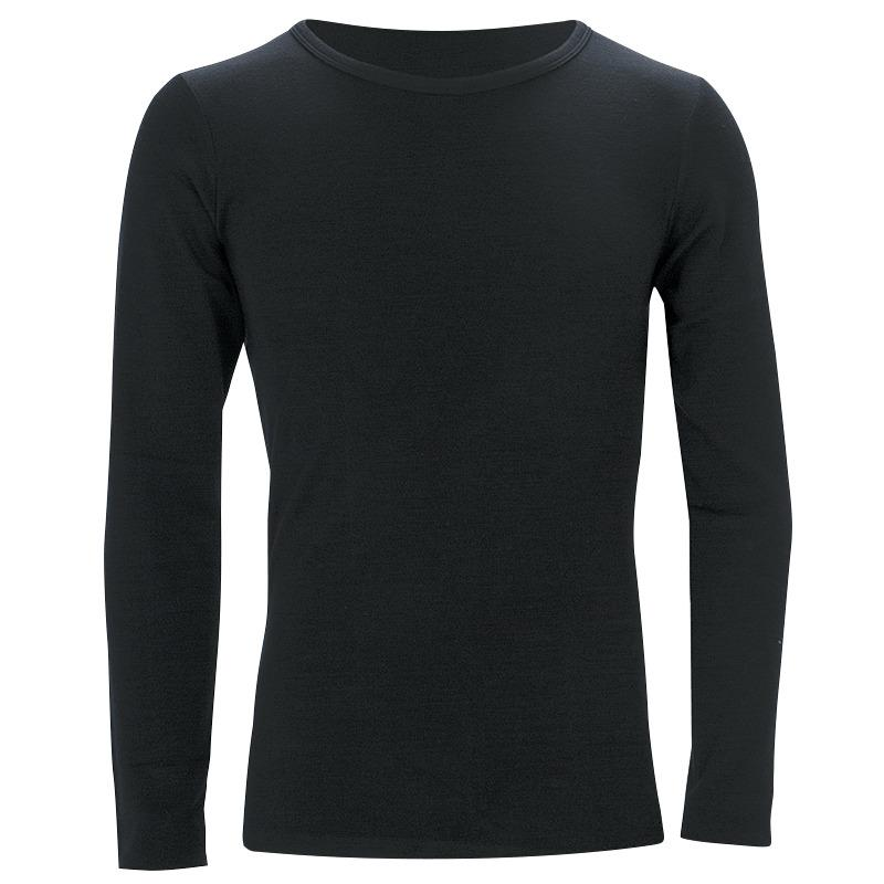 Sherpa Kids' Merino Long Sleeve Top Black Kids Tops Sherpa