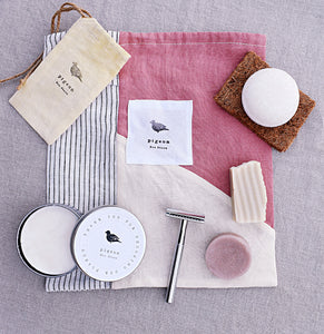Zero Waste Gift Set with Rose Gold Reusable Razor