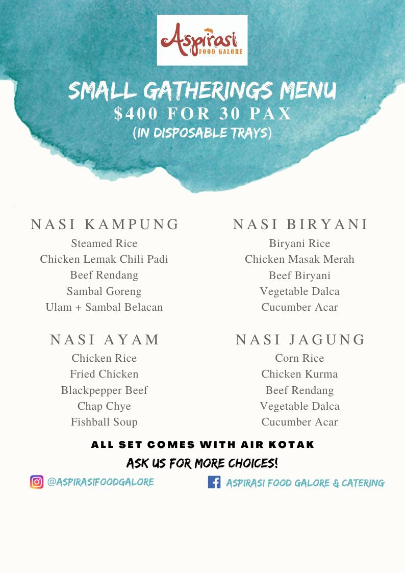 Catering for Small Gatherings (30pax)