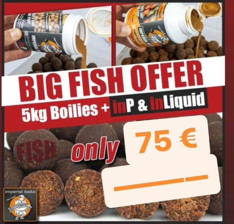 BIG FISH OFFER - 5 kg FISH Boilies + inP & inLiquid
