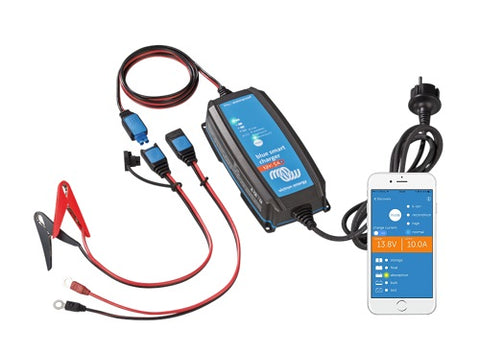 "Bluetooth charger 12V/15A for lead and lithium batteries, from ""Victron""."