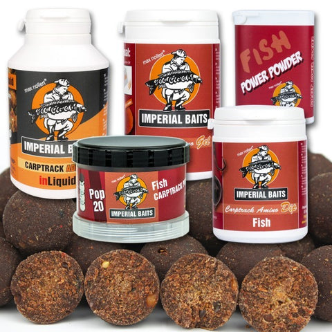IB MAXI Menu BIG Fish Boilies 8 kg / 16 mm + Dip, Gel, inLiquid, Power Powder, Pop Ups & iBox