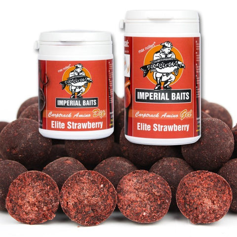 IB Menu Elite Strawberry Boilies 5 kg / 16 mm + Dip & Gel