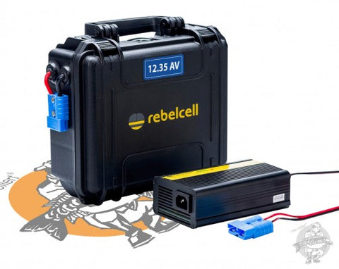 Rebelcell - Outdoorbox 12V35AV + Charger 12.6V10A