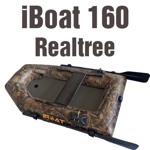 iBoat 160 GEN4 - realtree - car trunk boat - included accessories