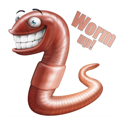 Sticker Worm Up XXL - 45 cm