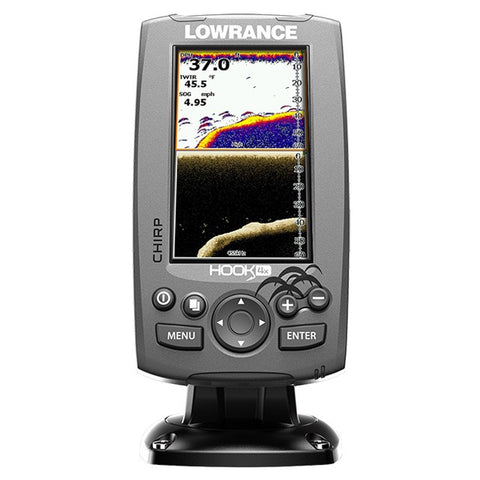 Lowrance Hook-4 with GPS - Festmontage