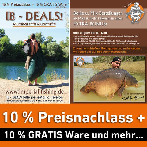 IB – DEALS – Quality and quantity get together!<br>10 % off + 10 % GRATIS offer and much more...