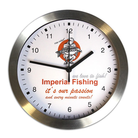 Imperial Fishing Metal Wall Clock