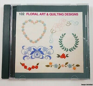 102 Floral Art and Quilting Designs
