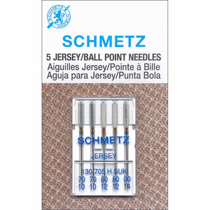 SCHMETZ #1727 Ball Point Needles Carded - Assorted Size - 5 count