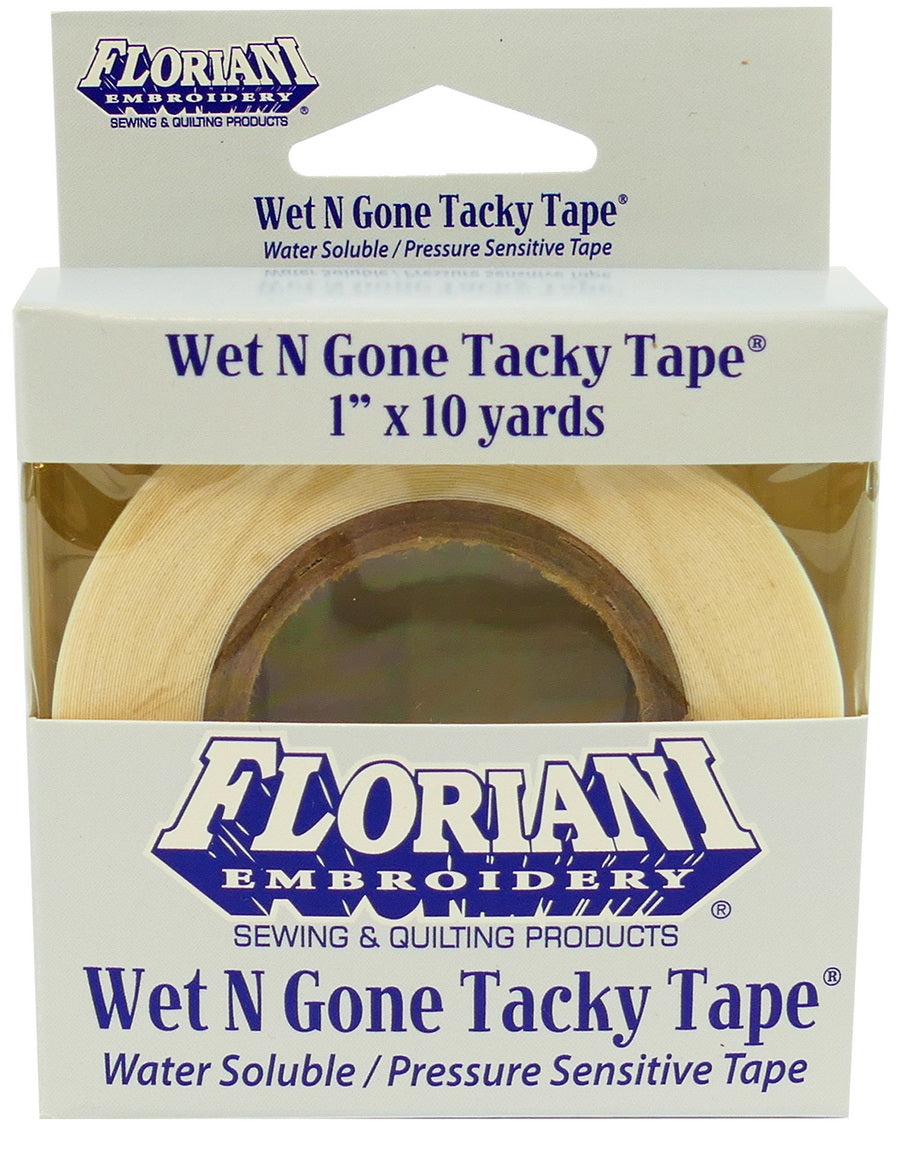 Floriani Wet N Gone Tacky Tape – 1″ x 10yds