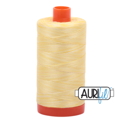 3910 LEMON ICE - VARIEGATED  - AURIFIL 100% COTTON THREAD 50WT.