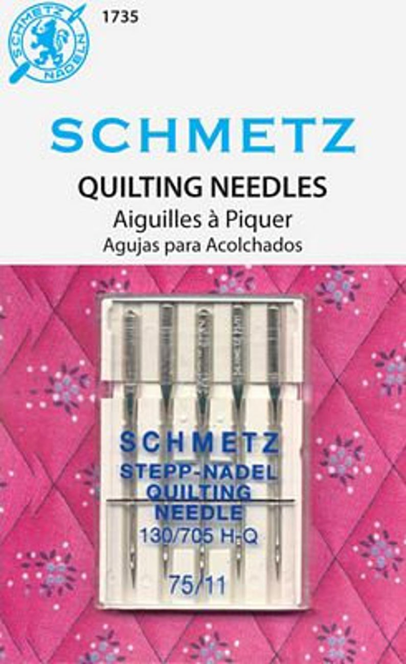SCHMETZ #1735 Quilting Needles Carded - 75/11 - 5 count