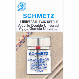 SCHMETZ #1733 Twin Needle Carded - 70/10 - 1.6mm - 1 count