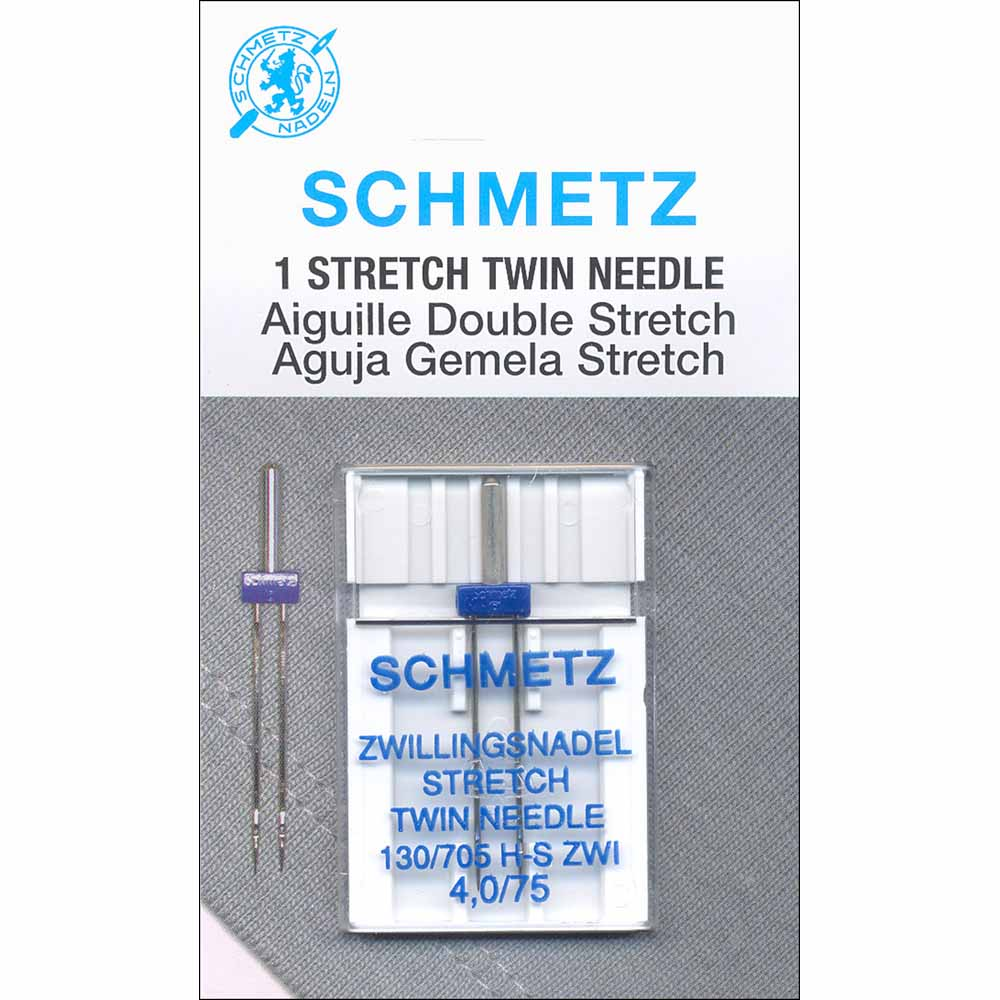 SCHMETZ #1775 Stretch Twin Needle Carded - 75/11 - 4.0mm- 1 count