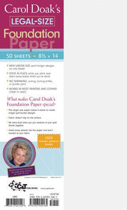 Carol Doak's Legal-Size Foundation Paper (50 Sheets)