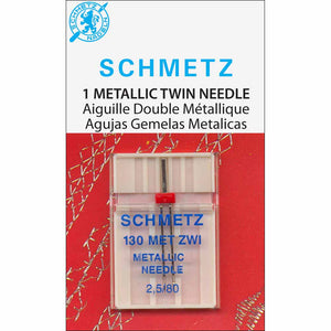 SCHMETZ #1744 Metallic Twin Needle Carded - 80/12 - 2.5mm - 1 count Product Code: 	9017588