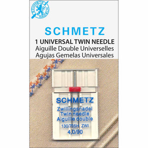 SCHMETZ #1795 Twin Needle Carded - 90/14 - 4.0mm - 1 count