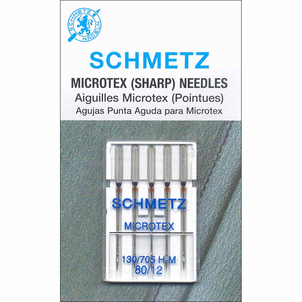 SCHMETZ #1730 Microtex Needles Carded - 80/12 - 5 count