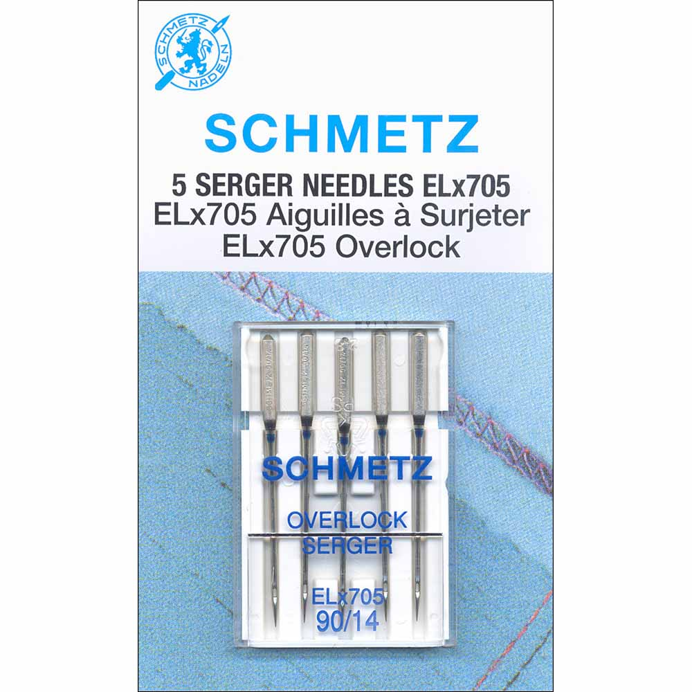 SCHMETZ #1821 Serger Needles Elx705 Carded - 90/14 - 5 count