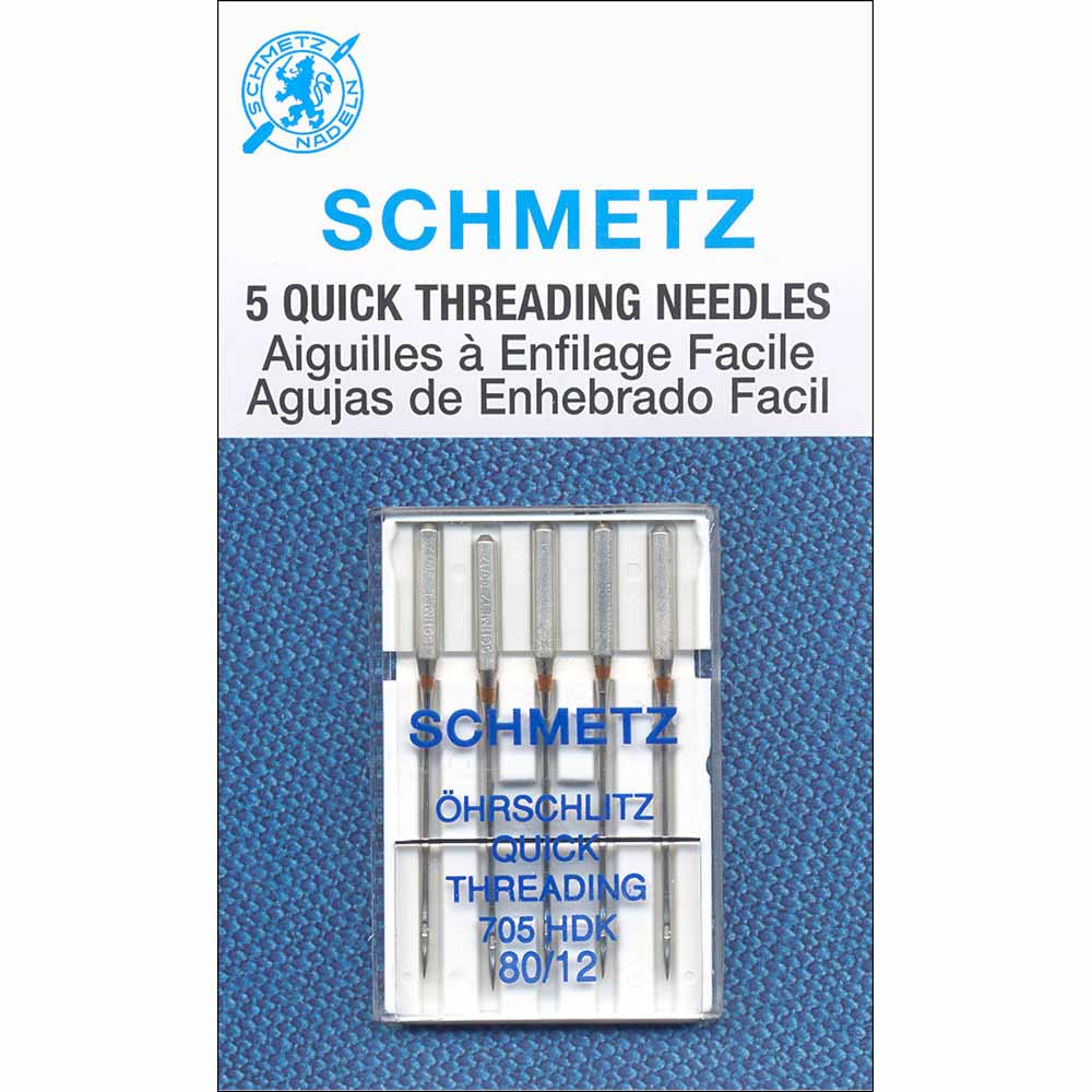 SCHMETZ #1790 Quick Threading Needles Carded - 80/12 - 5 count