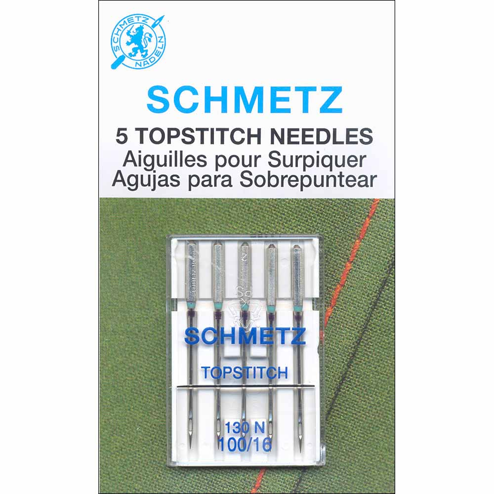 SCHMETZ #1798 Topstitch Needles Carded - 100/16 - 5 count