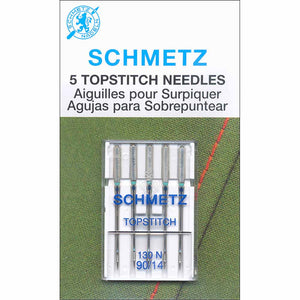 SCHMETZ #1793 Topstitch Needles Carded - 90/14 - 5 count