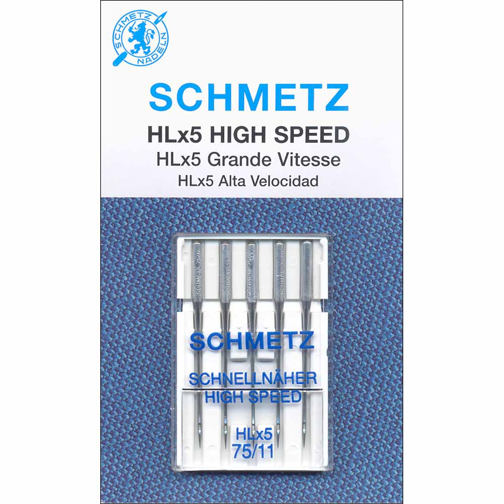 SCHMETZ #1841 HLx5 Quilters' Machine Needles Carded - 75/11 - 5 count