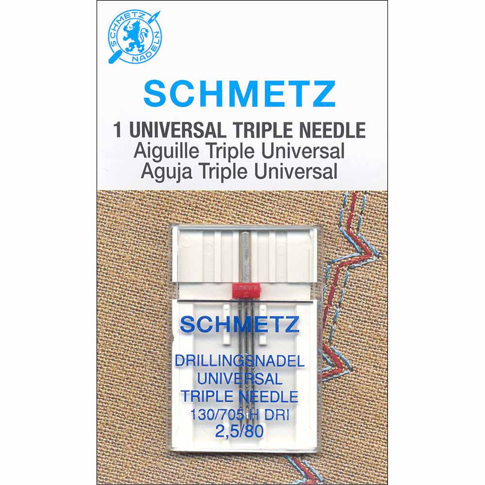 SCHMETZ #1796 Triple Needle Carded - 80/12 - 2.5mm - 1 count