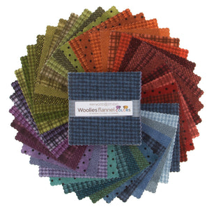 "Woolies Flannel Colors 5"" x 5"" Squares , 42 pieces"