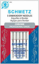 SCHMETZ #4020 Chrome Embroidery - 90/14 - 5 count