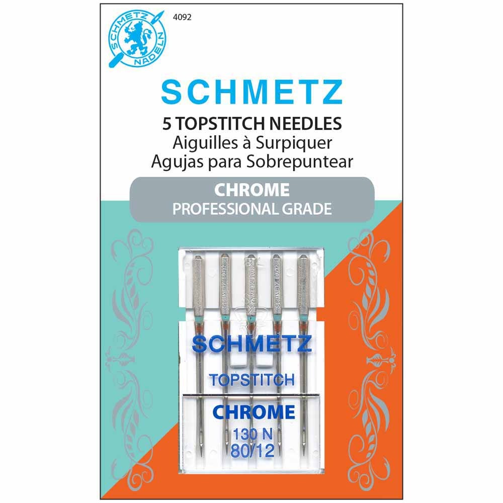 SCHMETZ #4092 Chrome Topstitch - 80/12 - 5 count
